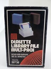 "3.5"" Floppy Disk Storage Acco Diskette Library 4 Pack - 50738 - 1990 Vintage New"