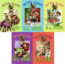 RL Stine ROTTEN SCHOOL Children's Paperback Series Collection Set of Books 1-5
