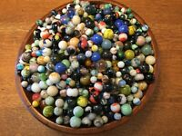 Vintage to Recent  HUGE Marble Lot, Shooter + More BAGS OF 50