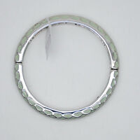 Size S lia sophia jewelry enamel bangle vintage silver tone bracelet for women