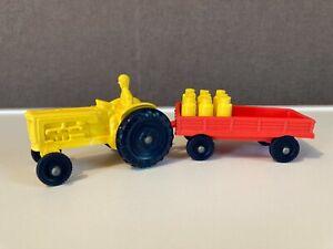 TOMTE LAERDAL STAVANGER jouet ancien tracteur remorque pots à lait