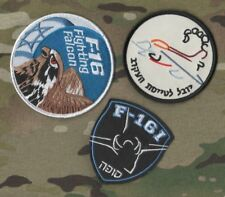 General Dynamics F-16 Fighting Falcon 3-PATCH Set: Israel Air Force Iaf ישראל
