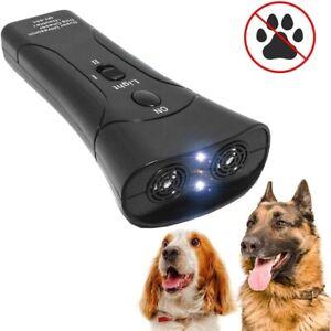 3 in 1 Pet Dog Repeller Anti Barking Stop Bark Training Device Trainer LED Ultra