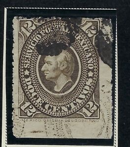 MEX 1885 12c MEDALLION  ISSUE   SC#0172 CV$9+ (al376)
