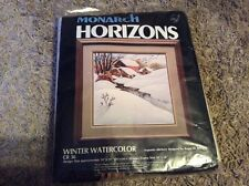 Monarch Horizons Winter Watercolor CR36 size 18x18