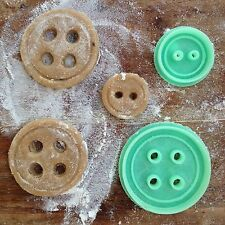 Button cookie cutters.4 holes and 2 holes buttons cookie cutters set