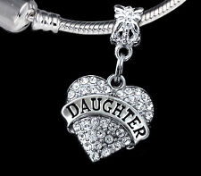 Daughter Charm  Fits European style Bracelet and necklace  Great daughter gift