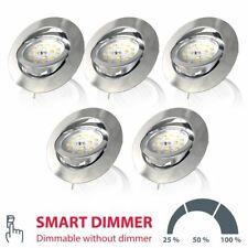 Einbaustrahler LED 5er SET Deckenspot ultra-flach Einbauleuchte Strahler dimmbar