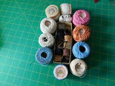 Vintage Tatting & Crochet Cotton Thread Balls.