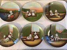 Royal Bayreuth Sun Bonnet Babies Days of the Week Plates 1974