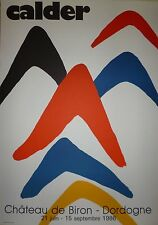 Calder Alexander affiche Lithographie Paris New-York art abstrait Dordogne