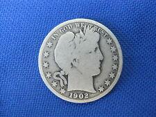 1902 P U.S. SILVER U.S.BARBER HALF DOLLAR 50 CENT COIN
