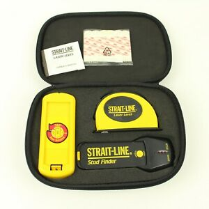 Strait-Line Laser Level & Stud Finder 3 Piece Set with Case