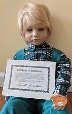 New Bastain doll by Annette Himstedt Barefoot children series 1986 Nib Box Coa