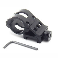 "1"" Alloy Flashlight Stent Torch Rifle Scope Mount Weaver 20mm Picatinny Rail"