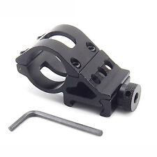 "1"" Alloy Flashlight Stent Torch Rifle Scope Mount Weaver 20mm Picatinny Rail"