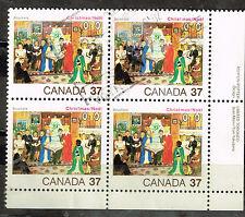 Canada Art Chistmas scene stamps block 1980