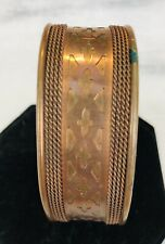 Vintage 1970's Copper Cuff Bracelet Artisan Made Unisex