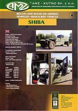 AMZ Shiba catalogue brochure military de-mining wheeled armoured vehicle