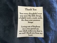 """8 Ceramic Decals kiln Special thank you poem  3 1/4"""""""