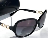 NEW* Coach L949 BLACK Gold Kissing C Grey Gradient lens Women's Sunglass  HC8146