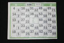 BINGO PAPER Cards 1 on dual dab double action Green 100 shts FREE PRIORITY SHIP