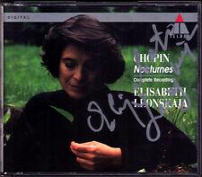 Elisabeth LEONSKAJA Signiert CHOPIN 21 Nocturne TELDEC 2CD Nocturnes Autographed