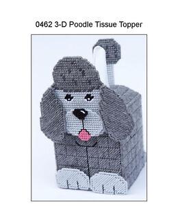 Poodle 3-D Dog Tissue Topper-Plastic Canvas Pattern or Kit