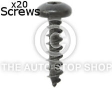 Tornillos alas y parachoques 6 X 20 Mm Zn Noir Renault latitude//logan Etc 11280 12pk