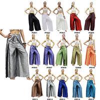 Pants PFR Silk Blend Palazzo Drive In Wrap Wide Leg Fisherman Sarong Harem Women