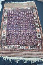 ANTIQUE PERSIAN TRIBAL BALUCH RUG ORIGINAL KILIM ENDS GREAT DYES