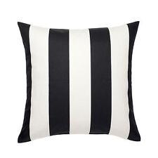 2 x IKEA CUSHION COVER Black White Stripe Sofa Bedroom Fabric Zip 50x50cm Cotton