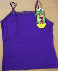JoCKeY No Panty Line Modal Microfiber Cami Camisole Purple NWT Size S M L