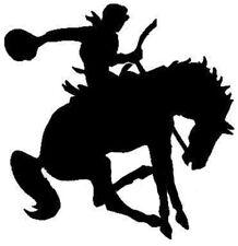 HORSE & COWBOY RODEO BLACK  car sticker vinyl decal motor window van car door