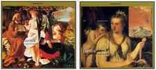 Timbres Religion Noel Arts Tableaux Gambie BF369/70 ** année 1997 lot 19564