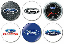 6 x Ford 32mm BUTTON PIN BADGES FPV Ford Car GT XR8 Racing Motor