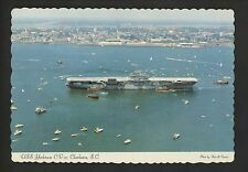 Military Ship postcard USN Navy USS Yorktown CV-10 aircraft carrier chrome