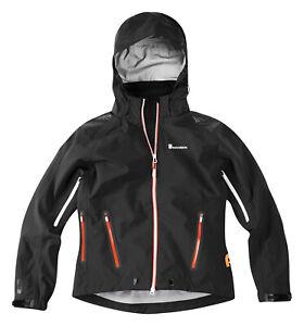 Madison Flo ladies womans waterproof cycling jacket, black ,bike, walk