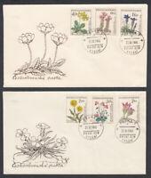 Tschechoslowakei Umschläge Erste Tag FDC Yvert 1115/20 Flora - 1960