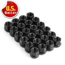 "24 Black Open End 14X1.5 Wheel Lug Nuts Bulge Acorn 3/4"" Hex for Chevy Silverado"