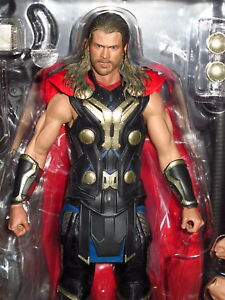 """Hot Toys - Thor - The Dark World Thor 12"""" Action Figure #9021401 w/ Boxes"""