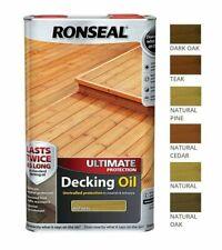 Ronseal Ultimate Decking olio resistente ai graffi Formula per rivestimento idrorepellente - 5 L
