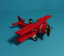 LEGO TOWN ~ Eagle Stunt Flyer, Biplane/rouge biplan (6615) & Instructions