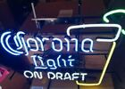Corona beer neon light up sign glass with lime game room tiki beach bar new