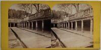 Nîmes Bains Romani Francia Foto Stereo Vintage Albumina c1865