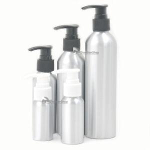 Empty Aluminum Bottle Soap Dispenser Pump Refillable Cosmetic Perfumes Jars JJJ