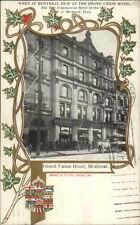 Montreal - Grand Union Hotel Patriotic Border c1905 Postcard