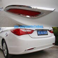 PM Polish Chrome Rear Fog Light Lamp Molding Trims New for Sonata 8 2011-2013