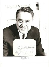 Sargent Shriver Autograph Founder Peace Corps French Ambassador Kennedy JFK #1