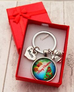 XMAS GIFT Keyring for Mum Daughter Daddy Friend Aunt Nana -Christmas Gift
